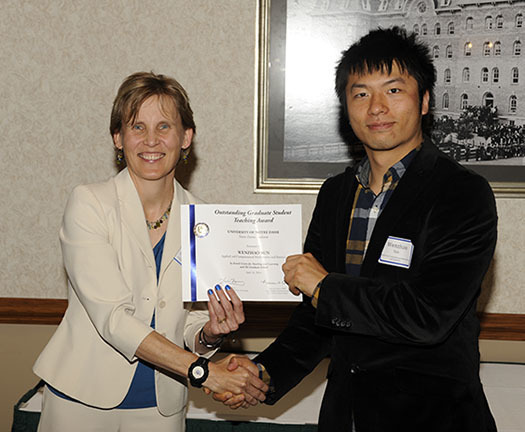 Wenzhao Sun, 2014 Kaneb Center award winner