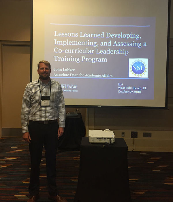 Associate Dean John Lubker discusses leadership programming at the International Leadership Association's annual conference